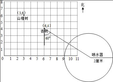 下面是红领巾植物园平面图(比例尺是1:500).