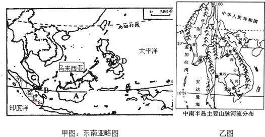可以看出中南半岛的地形特点