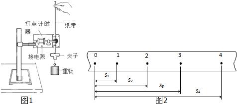 """将打点计时器接到电源的""""交流输出""""上; c.用天平测出重锤的质量; d."""