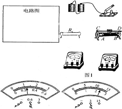 实验:用电压表和电流表测电阻