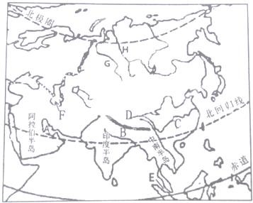 (4)中南半岛的地形有什么特点?  .