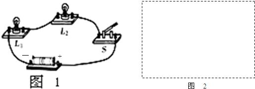如闭合开关后,发现灯l 1比灯l 2亮,此时,通过灯l 1的电流  通过