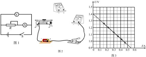 二模)某实验小组利用如图1所示的电路测量一节干电池的电动势和内电阻
