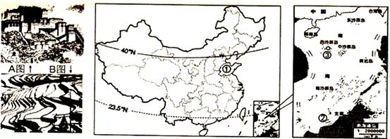 如图是我国甲,乙两工业基地图(比例尺不同),据此回答23~24题.