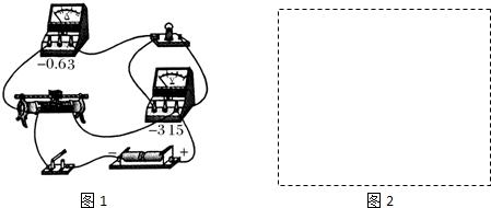 一同学已经完成导线的连接,请你根据实物接线图在方框中画出实验图