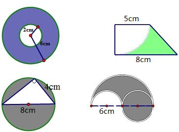 分析:(1)圆环的面积等于大圆的面积-小圆的面积