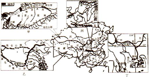 中亚手绘气候图