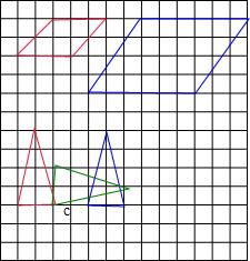 1 将平行四边形按2 1放大成新图形并画出来.