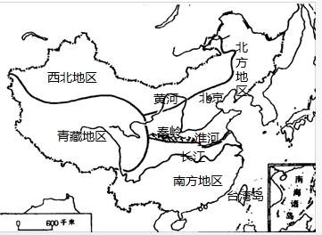 长江,黄河,秦岭
