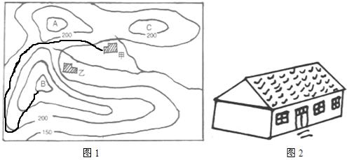 沪线;(5)降水少;(6)茅草房