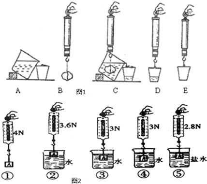 > 试题解析   (2)小明同学利用上面实验中的器材和木块,进一步探究了