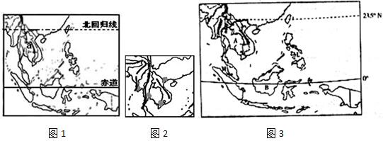 东南亚主要的半岛,岛屿,海峡和河流 1/1 - 中考模拟