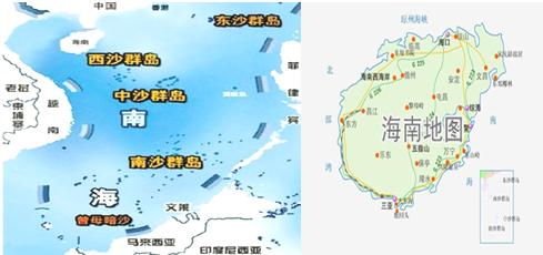 (1)分布于我国南海的四大群岛是:  群岛,  &nbsp
