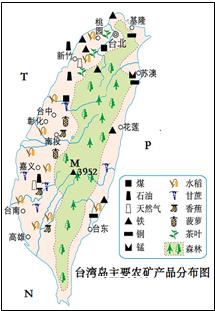 台湾岛城市分布
