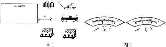 实验:用电压表和电流表测电阻(1)在方框内画出电路图