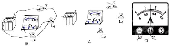 小华在探究串联电路的电流规律时,连接了如图甲的电路,请你帮他分析