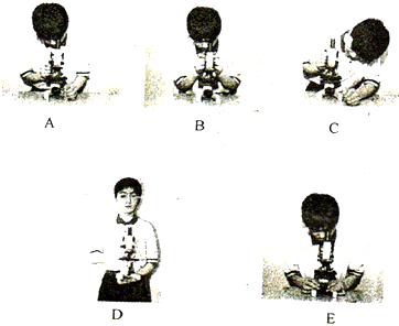 如图是使用显微镜的操作步骤图