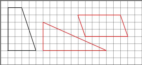 在方格纸上分别画一个三角形和一个平行四边形,使它们的面积和方格图中梯形面积相等 小学数学 菁优网