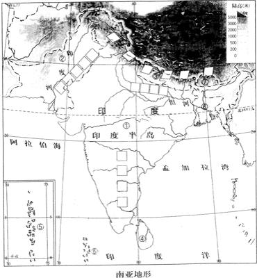 南亚地图_南亚人口