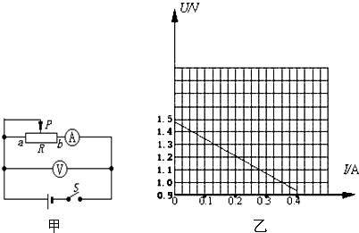 """在用""""电流表和电压表测定电池的电动势和内阻""""的实验中(图甲)."""