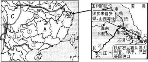 b两大区域的地理分界线是