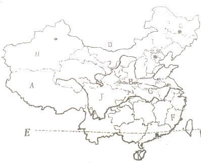 读中国地图,回答下列问题.(1)写出省级行政区a(全称)