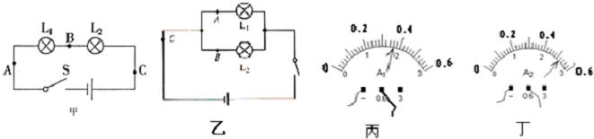 【解答】解:实中,为了使实验论具普遍性选用同规格的灯泡进行实验. 1.5A.3A的5倍,可知读时,错把电流表把流表0.量程当做0~3A量程了. 由于电流在点时,量干路电流,并且并联路中干路电流于各支路电,所以通过L2电流为0.52-0.36A=.6. 据图丁可,电表的程为0~0.6A,分值002A,示数为052A; 由电流表在A时测量通过L1电流,因此通过L1的电为03A; 故答案为:不相同;1A;电流表量程弄错;.