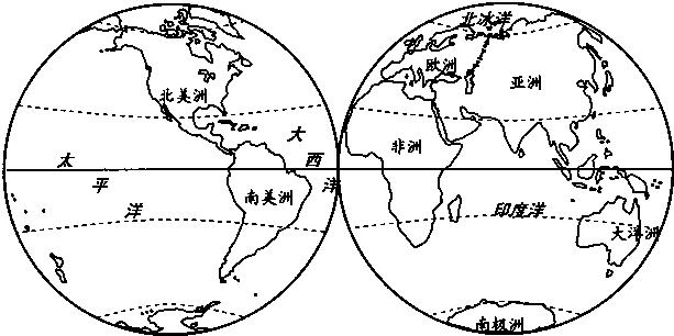 读七大洲和四大洋的分布图