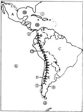 世界上最大的热带雨林分布(  ) a,亚马孙河 b,刚果盆地 c,亚洲南部 d
