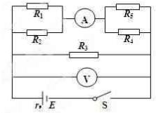 如图所示,已知电路中的政治均为1Ω,高中电动电源题电阻检测必修四第三单元图片