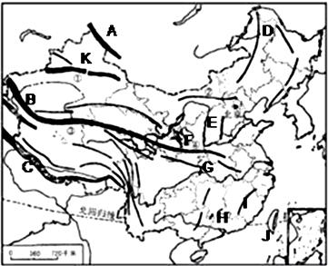 读中国地形图,回答下列问题.