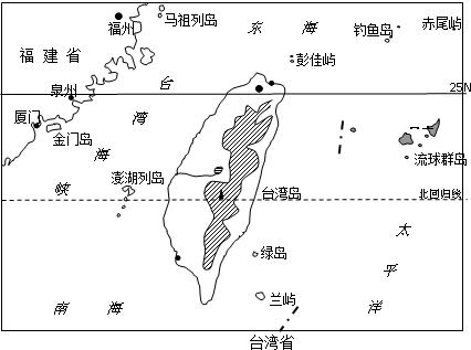 (1)台湾省包括 台湾 台湾岛