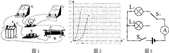 在探究小灯泡的伏安法测电阻实验中