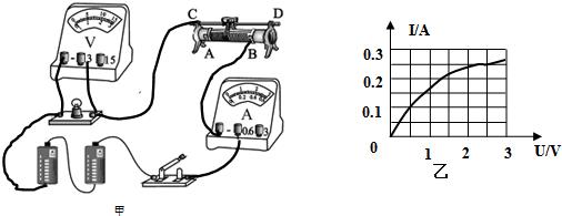 移动滑动变阻器的过程中发现