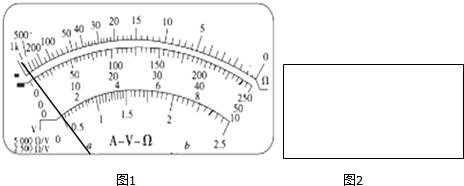 (1)他先用万用电表欧姆挡测该未知电阻的阻值.