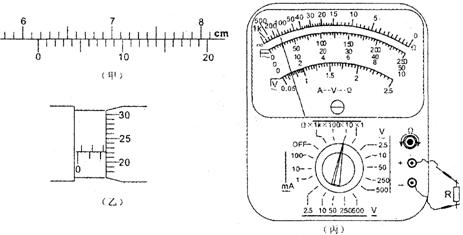 722mm; ③某同学用多用电表电阻挡测量电阻r的阻值:如果按图所示(图丙