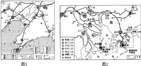 珠江三角洲地区工业布