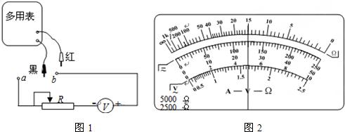 """电路,测量某多用电表""""×1k""""挡内电池的电动势e和电阻"""