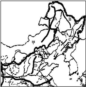 手绘地图山脉素材