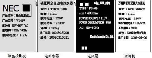 """用电器上标有""""220v100w""""的字样,220v表示  ,100w"""