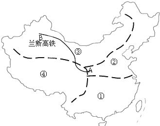 高铁南起a甘肃兰州北至b新疆 乌鲁木齐 乌鲁木齐,连接了甘肃, 青海省