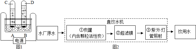 如图1为某同学进行电解水实验的装置图,据此回答