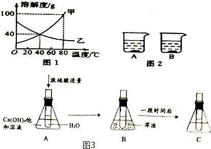 b烧杯中固体质量增加,则b烧杯溶液中的溶质是