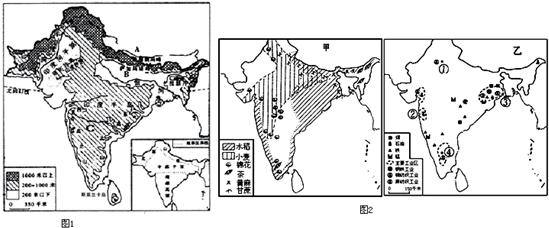 南亚地形图手绘