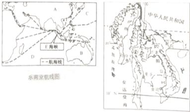 """中南半岛地形图"""""""