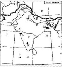 读印度及其邻国相互位置略图,填空.邻国名称