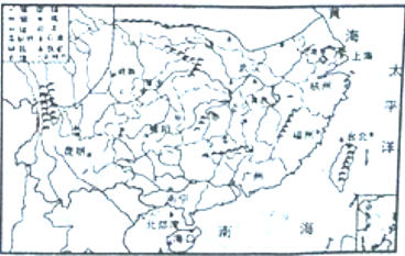 如图所示是我国南方地区主要矿区分布图,读图完成下列各题 1 南方地区地形以 为主,本区主要粮食作物是 2 贵州省地处 高原,主要矿产资源有