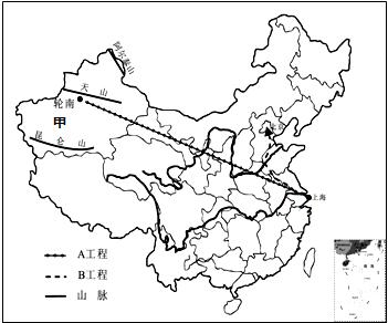 (2)甲盆地是 塔里木盆地