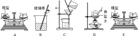 以下粗盐提纯实验活动中的部分操作
