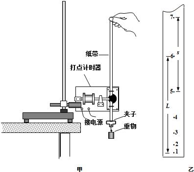 如图甲所示是使用电磁打点计时器验证机械能守恒定律的实验装置图
